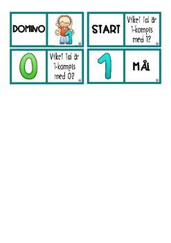 Domino talkompisar 1-10 svensk version