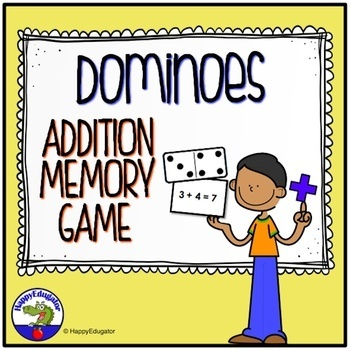 Dominoes Addition Facts Memory Game