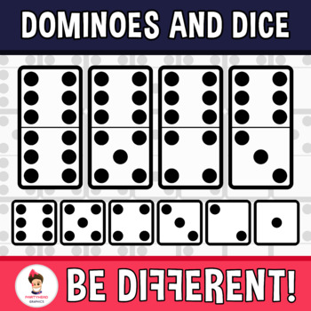 Dominoes And Dice Clipart