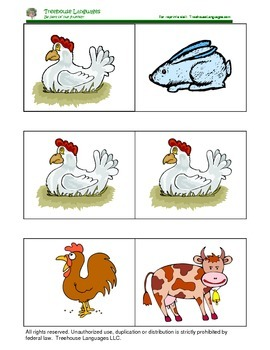 Dominoes: Animals in the farm