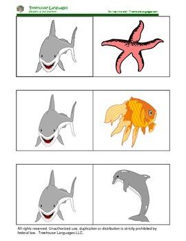 Dominoes: Animals in the ocean