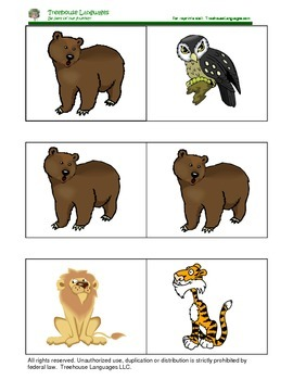 Dominoes: Animals in the zoo