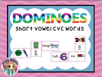 Dominoes CVC Words Mixed