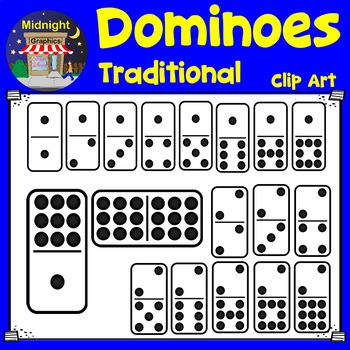 Dominoes Clip Art - Black Dots