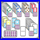 Dominoes Clip Art - Color