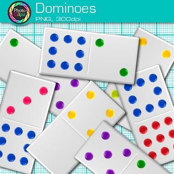 Rainbow Dominoes Clip Art {Math Manipulatives for Center Activities}