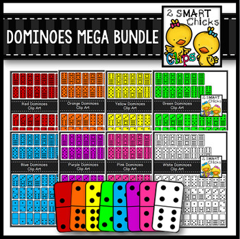 Dominoes Clip Art Mega Bundle {Math Center Manipulatives}