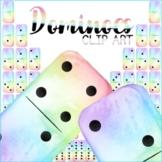 Dominoes Clip Art Rainbow Watercolour Clipart Graphic Set
