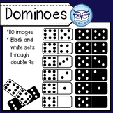 Dominoes Clip Art Set - Personal and Commercial Set