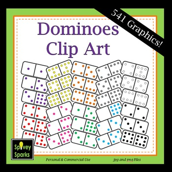 Dominoes Clip Art {Commercial Use}