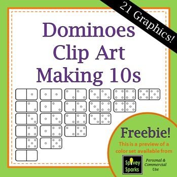 Dominoes Clipart **Freebie** {Commercial Use}