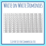 Dominoes Coloring In Dots  Math Manipulative Counting / Addition Clip Art