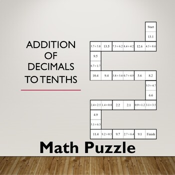 Dominoes Decimal Addition Puzzle - Tenths