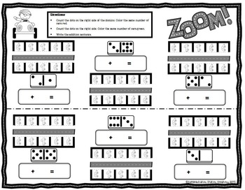 Dominoes & Dice Addition Center: Cars