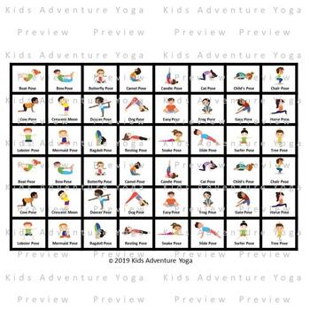 Dominoes, Dice, and Tumbling Blocks (Jenga) Kids Yoga Clipart