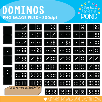 Domino / Dominoes - Clipart for Teaching Resources