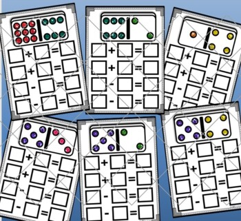 Dominoes Fact Families Wipe Off Mats Set