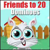 Math Dominoes - {Facts to 20} -  Addition Fact Practice