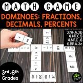 Dominoes: Fractions, Decimals, & Percents {Math Game}
