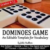 Dominoes Editable Game Template, Traditional AND Digital