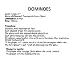 Dominoes Geometry Vocabulary