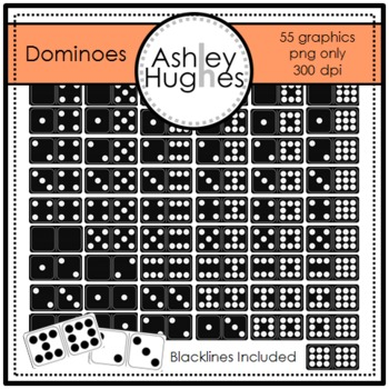 Dominoes Clipart {A Hughes Design}
