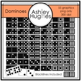 Dominoes Clipart {A Hughes Design}