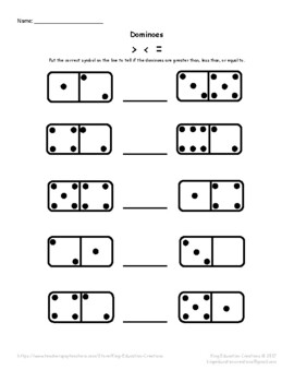 Dominoes - Greater than, Less than, or Equal to