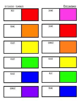 Dominoes - Les couleurs / Colour Dominoes