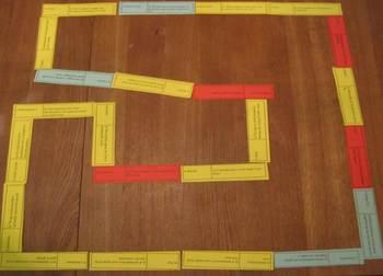 Dominoes Loop Game: Simple Chemical Reactions