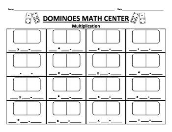 Dominoes Math Center- Multiplication