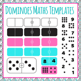 Dominoes Math Templates - Addition and Subtraction Clip Art for Commercial Use
