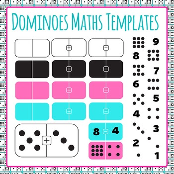 Dominoes Math Templates - Addition and Subtraction Clip Ar