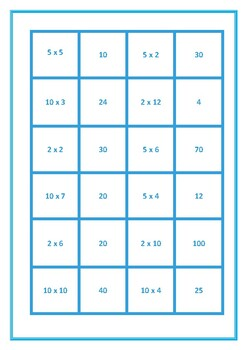 Dominoes Mixed 2, 5, 10 Times Tables Game