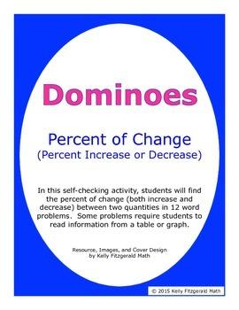 Dominoes - Percent of Change (Percent Increase or Decrease)