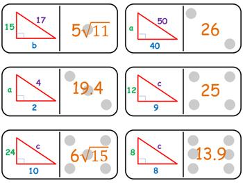 Dominoes Pythagorean Theorem