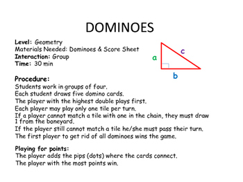 Dominoes Pythagorean Theorem
