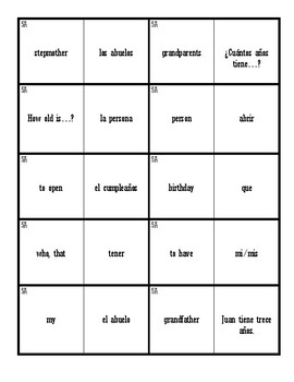 Dominoes (Realidades 1 - 5A)