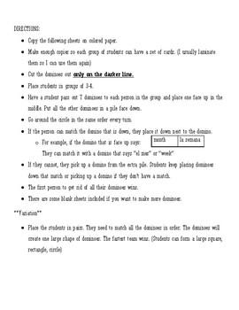 Dominoes (Realidades 1 - 9B)