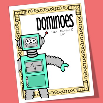 photo about Robot Printable titled Robotic Printable Domino Activity