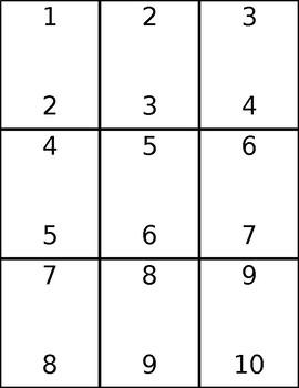 Dominoes Template