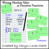 Writing Absolute Value Equations as Piece-wise Function-Matching Activity