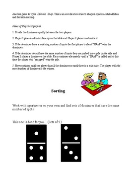 Dominoes - a fun math unit