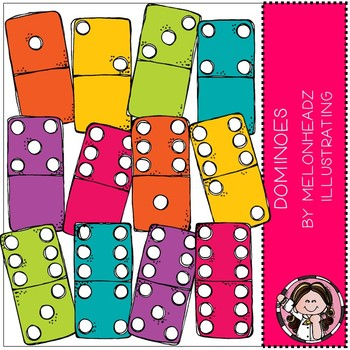 Dominoes clip art - COMBO PACK - Melonheadz Clipart
