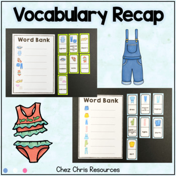 Dominoes - Clothes clothing Vocabulary