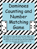 Dominoes counting and numbers matching game