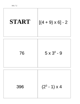 Dominoes for Order of Operations