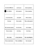 Dominoes game - French Adjectives