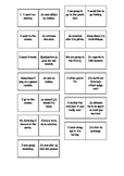 French Teaching Resources. Dominoes: hobbies, present, perfect & near future.