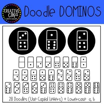 Dominos FONT {Creative Clips Clipart}